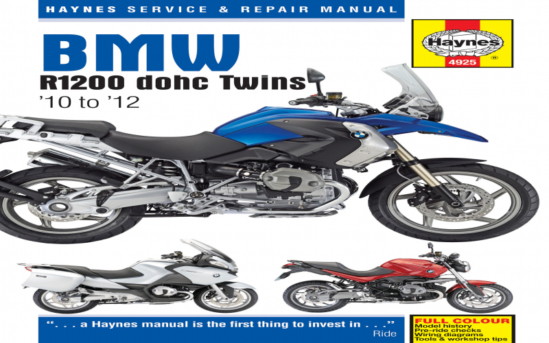 2012 BMW R1200rt Owners Manual Pdf Owners Manual