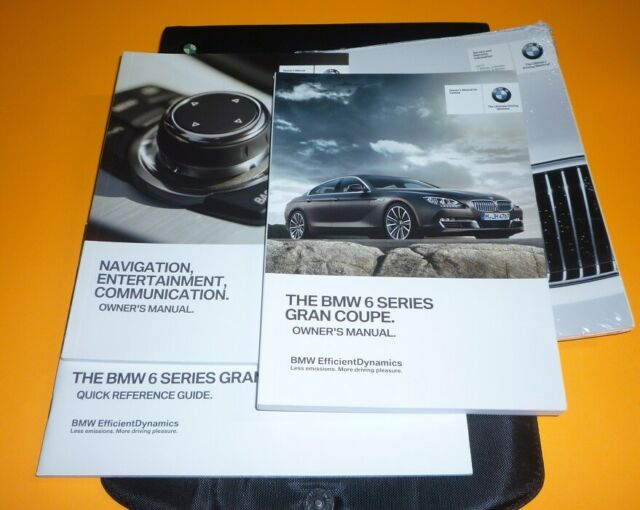 2013 BMW 6 SERIES GRAN COUPE 640i 650i OWNERS MANUAL SET