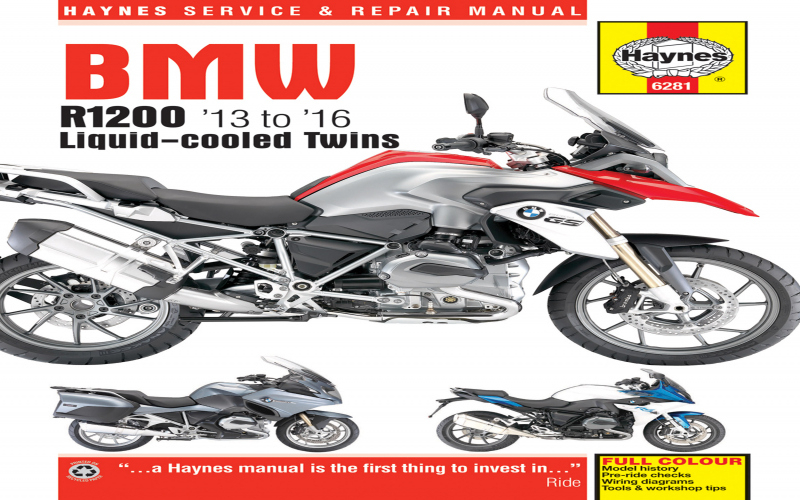2017 BMW R1200rt Owners Manual Owners Manual