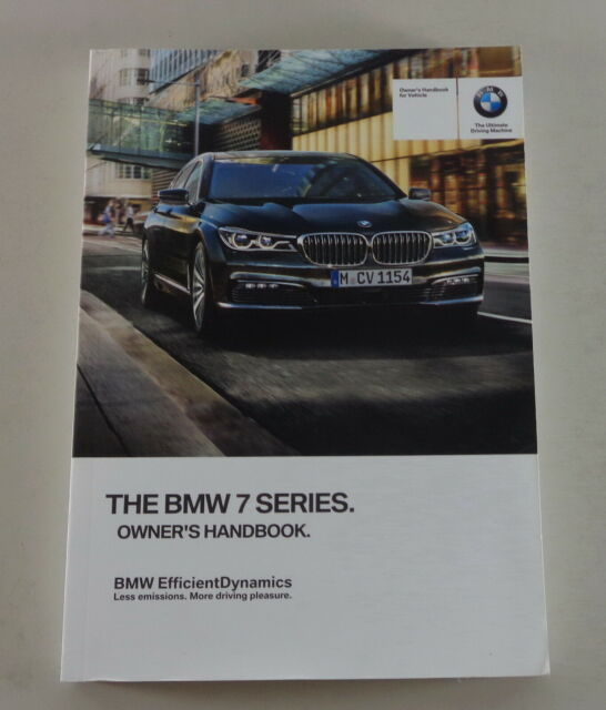 Owner s Manual BMW 7 Series G11 From 2016 EBay