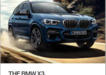2018 BMW X3 Owners Manual Canada