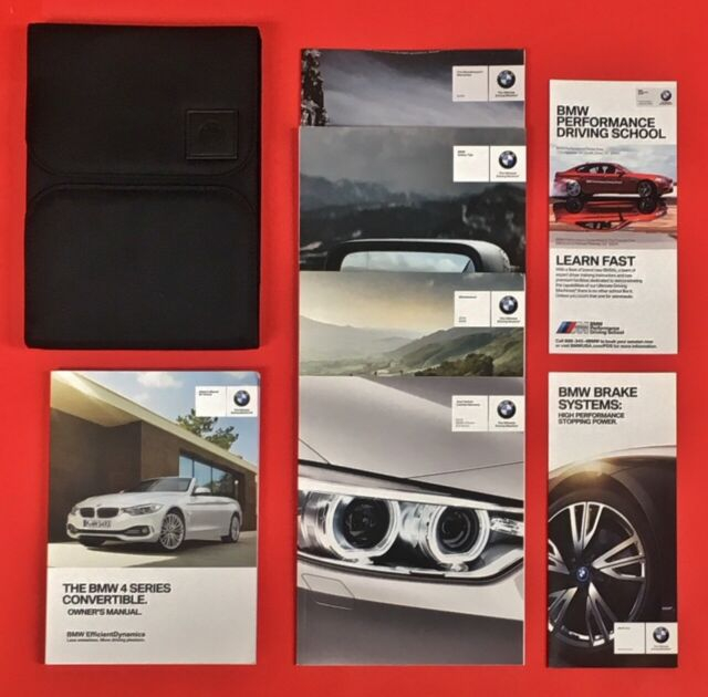 2017 2018 2019 BMW 4 Series Convertible Owners Manual F32